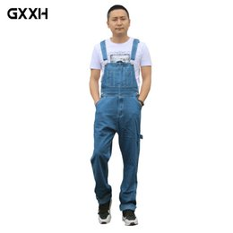 $enCountryForm.capitalKeyWord Australia - GXXH Hot 2018 Men's Plus Size Overalls Large Size Huge Denim Bib Pants Fashion Pocket Jumpsuits High Quality cowboy suspenders
