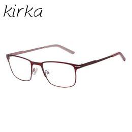 d9f70758d9ab Kirka New Design Red Stainless Steel frame Spectacle Metal Frame Eyeglasses  Men Computer Optical Eye Glasse Frames For Men