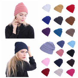 8df594efad2 Sun protection Skull capS online shopping - Women Winter Knitted Wool Cap  Beanies Unisex Casual Hats