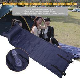 sleeping bag camp pillow 2019 - Inflatable Air Mattress Pillow Sleeping Bag Bed For Nap Camping Hiking Outdoor Activity Portable Survival Tool 183x57cm