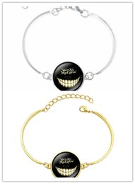 China 10PCS 2Color Alice In Wonderland Bracelets & Bangles Cheshire Cat Glass Round Dome DIY Jewelry Silver Charm Bracelet for Women Children Gift cheap wonderland bracelet suppliers