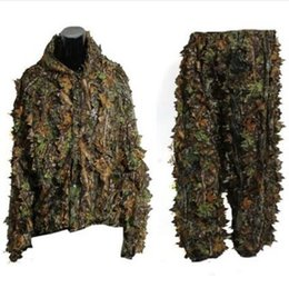 9913bdd1e9c02 Durable Outdoor Woodland Sniper Camo Ghillie Suit Kit Cloak Outdoor Leaf  Camouflage Jungle Hunting Birding Suit Novelty Items CCA10371 1pcs