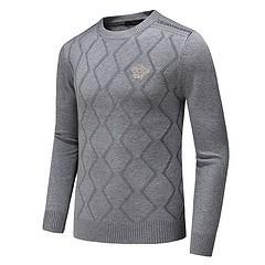 spell clothes 2019 - Autumn Clothing New Pattern Man Round Neck Fashion Geometry Spelling Color Long Sleeve Cotton Unlined Upper Garment Knit