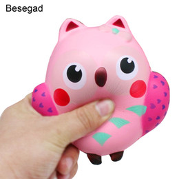 Discount owl toys for kids - Besegad Slow Rising Squishy Toy Owl Shape Relieves Stress Toy Decompression Squeeze Toy For Children Adults Anxiety Atte