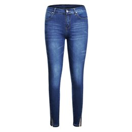 32dfc0f79e5 New Style Big Size Womens Jeans Denim Fashion Skinny High Waist Pencil Pants  Casual Ankle- Length Trousers