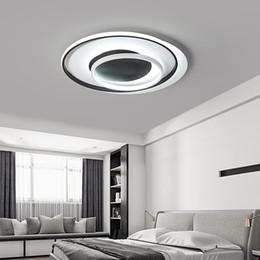 Venta al por mayor de Lámpara de iluminación para sala de estar dormitorio Lustre Rectángulo LED Lámpara de onda de techo AC85-265V lamparas de techo Lámpara moderna