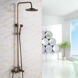 "$enCountryForm.capitalKeyWord Australia - Wall Mounted Antique Brass Bath & Shower Faucets 8"" Rainfall Showerhead Dual Handles Mixer Faucet"