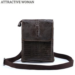 bag offers 2019 - Special offer!Genuine Leather Bag Male Men Bags Small Shoulder Crossbody Bags Handbags Casual Messenger Flap Men Leather