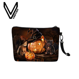 Box Canvas Prints NZ - Halloween 3D Printing Cosmetic Bag For Women Fashion Pillow Canvas Makeup Bag Ladies Portable Travel Cosmetic Box New Arrival