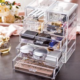 Big Storage Boxes Australia - CHOICE FUN Best Selling Large Desktop Clear Acrylic Drawers Casket Big Plastic Storage Makeup Cosmetic Organizer For Decorations