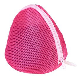 types bags UK - Portable Rosy Mesh Bag Convenient Room Storage Bag Underwear Keeper Zipper Case