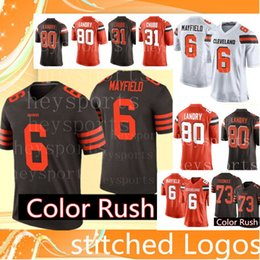 518eca97 ... official store cleveland browns 6 baker mayfield 80 jarvis landry jersey  mens 73 joe thomas football