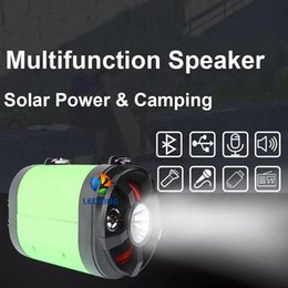 $enCountryForm.capitalKeyWord NZ - Solar Speaker Light Super Multifunction Which with 2 LED lights Solar Panel Adapter Used for Outdoor Camping Charger Mobile phone