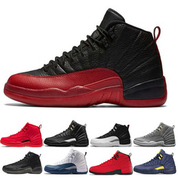 12c7effa71f5ff New Mens basketball shoes Gym red Michigan 12 12s College Navy bulls UNC  Flu Game the master black white Sports sneaker size 7-13