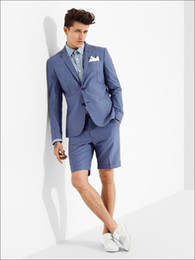 $enCountryForm.capitalKeyWord Canada - 2018 Latest coat pant designs Royal blue men suit with short pants Wedding party beach dress slim fit blazer jacket and pants