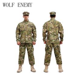 $enCountryForm.capitalKeyWord Canada - U.S Army BDU German Camouflage suit Tactical combat uniform -jacket + pants men medical clothing set