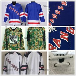 york outlet 2018 - Factory Outlet, New York Rangers Blank Jersey Blue White Digital Camo Blank NY Rangers Stadium Series Jerseys Cheap Blan