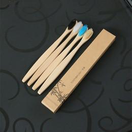 Brosse à dents en bambou Charbon de bois en bambou Brosse à dents en nylon souple Capitellum Brosses à dents en bambou pour Hôtel Voyage brosse à dents 3006071