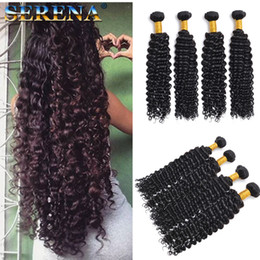 $enCountryForm.capitalKeyWord Australia - Brazilian Deep Wave Virgin Hair Human Hair Bundles 4pcs lot 100% Curly Virgin Hair Factory Selling Cheap Deep Wave Curly Weave On Sale