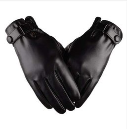 $enCountryForm.capitalKeyWord Australia - Miya Mona Winter Gloves Men Leather Mitaine Solid Guantes For Male Driving Warm Windproof Gloves Thick Mitten