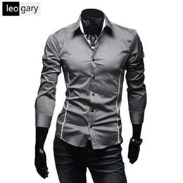 Xl Size Sale Dress NZ - Hot Sale Mens Shirts Men's Dress Shirt Long Sleeve Casual Shirt Male Slim Fit Bland-clothing camisa masculina Size M--XXXL