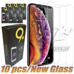 Pour iphone X XR XS MAX I8 7 Plus Protecteurs D'écran En Verre Trempé Pour Iphone 6 6S Plus 0.26mm Avec Paquet En Papier en Solde