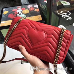 women shoulder bags italy UK - women famous brand cowhide leather bag Marmont shoulder bags luxury designer handbags high quality chain crossbody bag Italy handbags