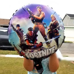 Discount balloons Fortnite Aluminum Foil Balloon Kids Toy Large Balloon Birthday Party Supplies Christmas Halloween Decoration 18in NNA439