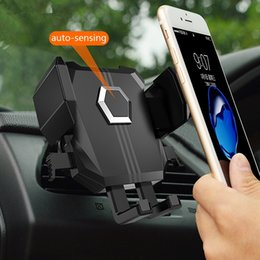 $enCountryForm.capitalKeyWord NZ - Black Car Phone Holder Air Vent Outlet Auto Mobile Bracket Mount Stable Phone GPS Suction Stand Universal