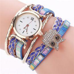Owl Bracelet Watches NZ - 2018 New clock Dress hour CCQ Women ladies watch Fashion Casual Analog Quartz wrist watch Women Rhinestone Owl Bracelet