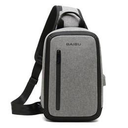 55b25e50c40f DAYGOS Men new Anti-theft Large Capacity Multi-pocket Crossbody Bag Casual  Men Chest Bag Waterproof Sling-Bag iPad Messenger