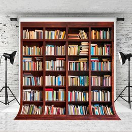 photography backdrops book 2019 - Dream 5x7ft Bookshelf Backdrop Retro Wood Photography Book Background for Children Baby Back to School Shoot Studio Back