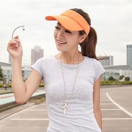 New Arrival 6 Colors Adjustable Women Summer Outdoor Sun Visor Hat Sport  Golf Baseball Tennis Hat Cap Gift 809762ddac18