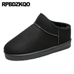 56cbf6a8 Botas de piel negras baratas online-botines cortos australianos para hombre  negro botas de invierno