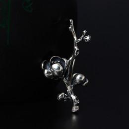 Designer Flower Brooch Canada - designer jewelry Fashion charm women 925 Sterling Silver Brooches Flowers of Magnolia Brooch retro female clothing shirt collar fine jewelry