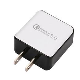 QC 3.0 Быстрое зарядное устройство USB Быстрая зарядка 5В 3А 9В 2А Адаптер питания для путешествий Быстрая зарядка США ЕС Разъем для iPhone 7 8 X Samsung Huawei Phone на Распродаже