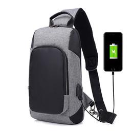 $enCountryForm.capitalKeyWord UK - USB Charging Large Capacity Male Chest Bag High Quality Modern anti-theft Shoulder Bag Unisex Crossbody Bags Messenger Pack