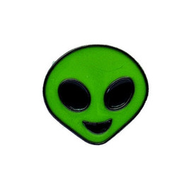 Chinese  Green Alien Head Enamel Brooches Pins Small Size Cartoon Badges Cute Lapel Pins for Clothes Backpack Shirt Collar Whoelsae 2018 New Fashion manufacturers