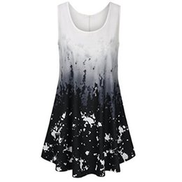 7cd621efb9d Plus Size Women Clothing Ombre Print Cami Top Womens Tie dye Sleeveless  Vest Top Casual Tank Loose Tops T-Shirt Beach Vest