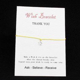 DIY Mini Cute Kawaii Postcard Fashion Vintage Retro Pierced Post Greeting Cards For Birthday Christmas Star Bracelet