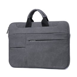 Waterproof laptop china online shopping - Universal Suede Inch Laptop Case For Lenovo DELL Mac Waterproof Pc Bag Handbag Notebook Protector