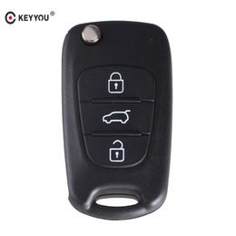 $enCountryForm.capitalKeyWord Australia - housing shell KEYYOU Remote Flip Folding Key Shell Case 3 Buttons Fit For Kia Keyless Entry Fob Cover Car Alarm Housing