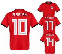ad80356cf 2018 world cup Egypt Soccer Jersey 18 19 Top quality M. SALAH 10 KAHRABA  national team men short sleeve footbal SHIRT maillot de foot shirt