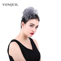 $enCountryForm.capitalKeyWord NZ - 2018 Fascinator Nylon Hairband Hair Clip For Women Heawear Ladies Elegant Wedding Tea Party Feather Fascinator Headband New Arrival SYF399