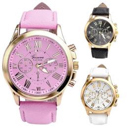 Leder Mode Kausal Kleid Uhr Frauen Quarzuhr Armband Uhren Marke Blumen Rose Gold Mädchen Gold Damen Heißer Verkauf M3