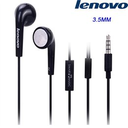 Discount samsung note earbuds - Original Lenovo Earphone 3.5mm Black earbuds with Mic Voice Control for K900 K920 S720 S600 Vibe note LG HTC SAMSUNG SON