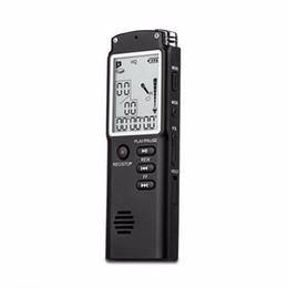 Digital Audio Player 1gb Australia - Freeshipping Mini Professional Voice Recording Device Time Display Large Screen Digital Voice Audio Recorder Dictaphone MP3 Player