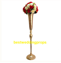 $enCountryForm.capitalKeyWord UK - new style tall and lareg Slim metal flower vase , trumpet vases centerpieces for wedding & home decoration best0119