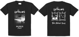 Опт Компания футболки мужские короткие O-образным вырезом с коротким рукавом Satyricon темные средневековые времена футболки