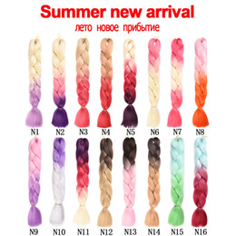 kanekalon jumbo braid extension hair NZ - Ombre Kanekalon Jumbo Braids Synthetic Braiding Hair 60Color Available 100g 24Inch Hair Extension Pink Blue Green 1pce
